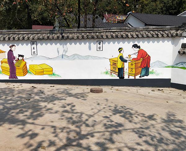 中国古建筑墙绘的发展