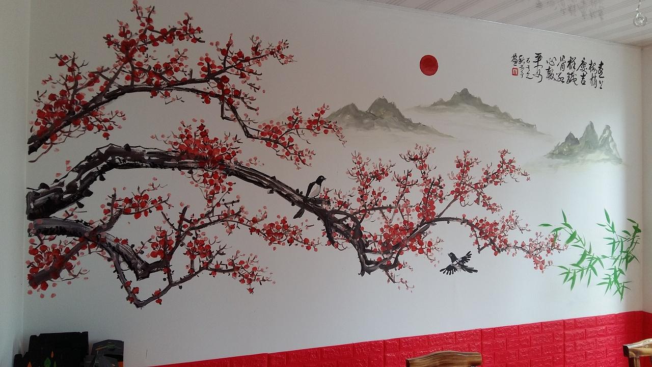 手绘墙是一种新型独特装饰
