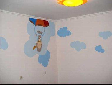 最常见的国外幼儿园和儿童房壁画设计思路