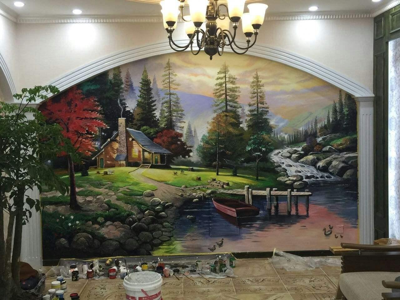 南昌幼儿园手绘墙,南昌古建彩绘,南昌幼儿园手绘墙画