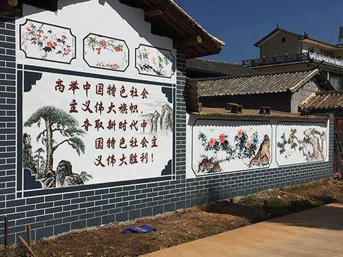 南昌彩绘古建筑,南昌手绘背景图,南昌背景图手绘
