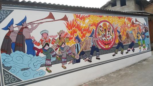 南昌墙面彩绘,南昌彩绘墙面