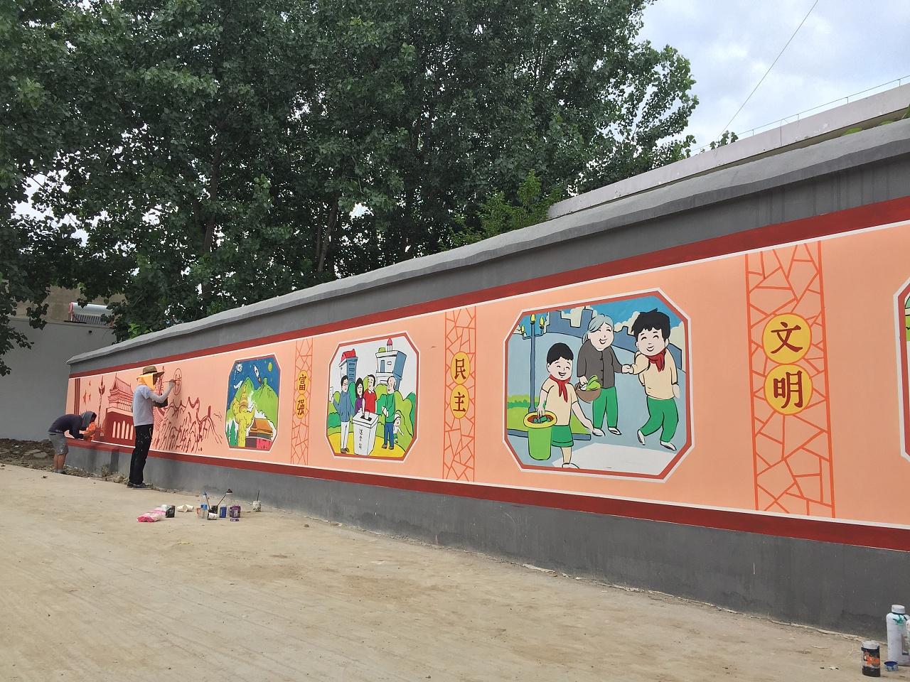南昌墙绘画,南昌室外墙体彩绘,南昌农村墙体彩绘