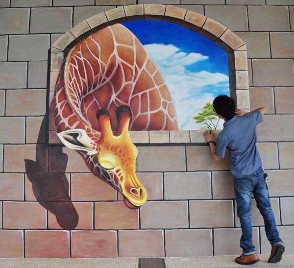 南昌3d立体画彩绘,南昌立体画彩绘,南昌手绘彩绘墙