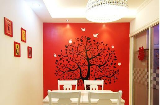 南昌背景墙墙绘,南昌彩绘墙体,南昌墙绘工作室