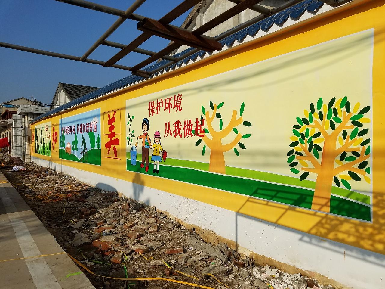 南昌文化墙彩绘,南昌涂鸦手绘墙,南昌手绘墙涂鸦