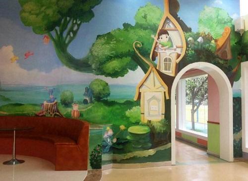 南昌幼儿园墙画手绘,南昌壁画手绘,南昌彩绘3d立体画