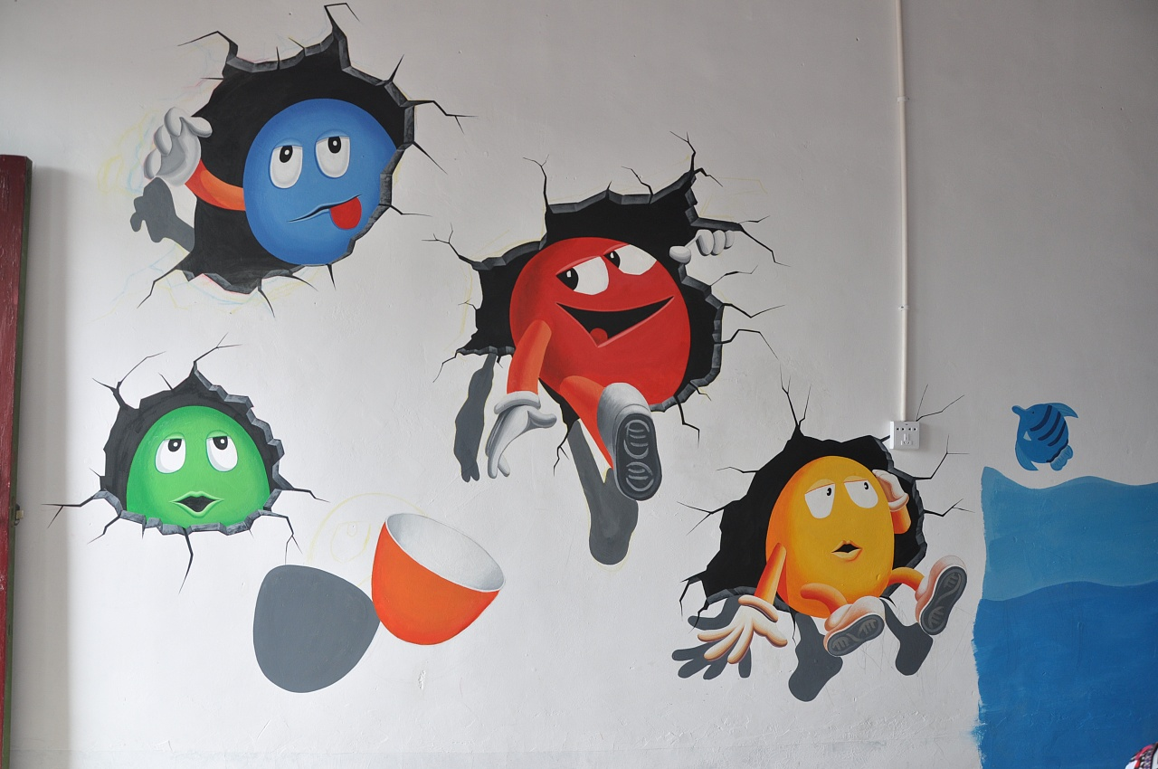 南昌彩绘墙壁公司,南昌立体画手绘,南昌背景墙墙体彩绘