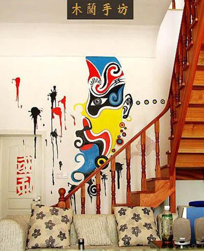 手画壁画可分为彩画、手画、涂鸦、文明墙和写实壁画