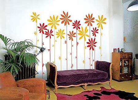 如今的墙体彩绘艺术走向了千家万户